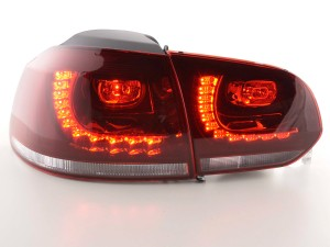 Baklampor LED Röd VW Golf MK6 2008-2013